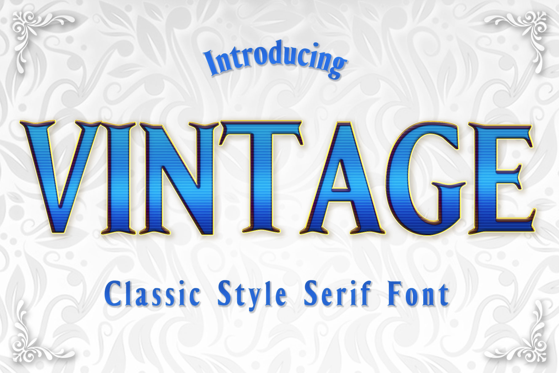 Download Free Vintage Font By Numnim Creative Fabrica for Cricut Explore, Silhouette and other cutting machines.