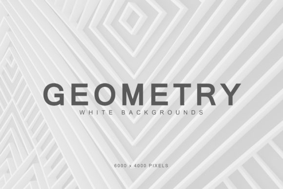 Print on Demand: White Geometry Backgrounds 1 Graphic Backgrounds By ArtistMef