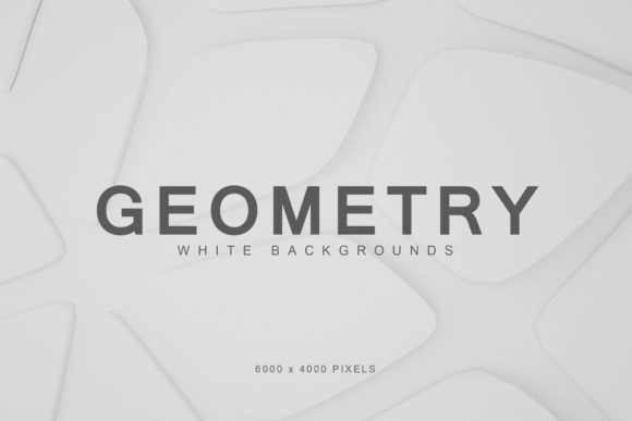 Print on Demand: White Geometry Backgrounds 2 Graphic Backgrounds By ArtistMef