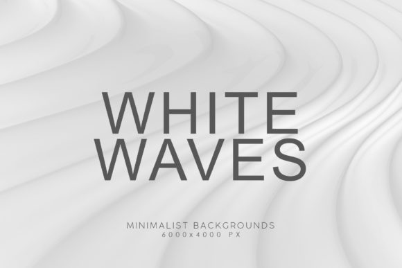 Print on Demand: White Minimalist Wave Backgrounds 1 Graphic Backgrounds By ArtistMef