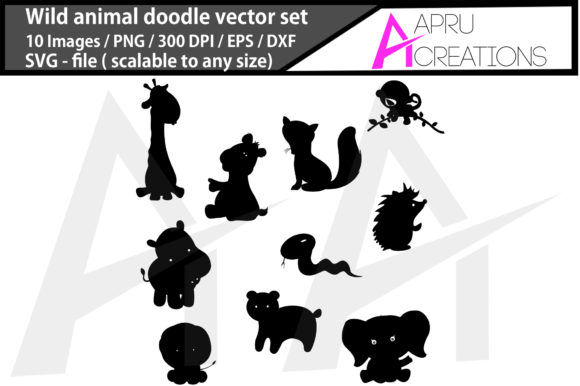 Download Free Wild Animal Doodle Silhouette Graphic By Aparnastjp Creative for Cricut Explore, Silhouette and other cutting machines.