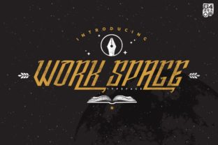 Print on Demand: Work Space Display Font By inumocca_type
