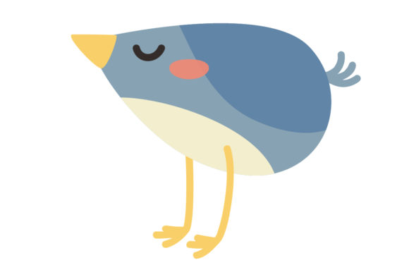 Download Free Cute Bluebird Animal Vector Graphic By Sasongkoanis Creative for Cricut Explore, Silhouette and other cutting machines.