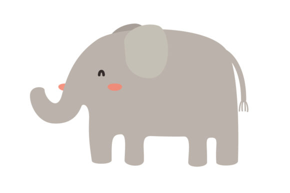 Download Free Cute Elephant Animal Vector Graphic By Sasongkoanis Creative for Cricut Explore, Silhouette and other cutting machines.