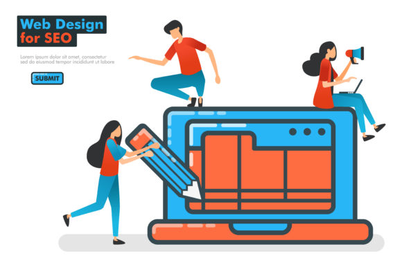 Landing Page Of Seo Web Design Graphic By Setiawanarief111 Creative Fabrica