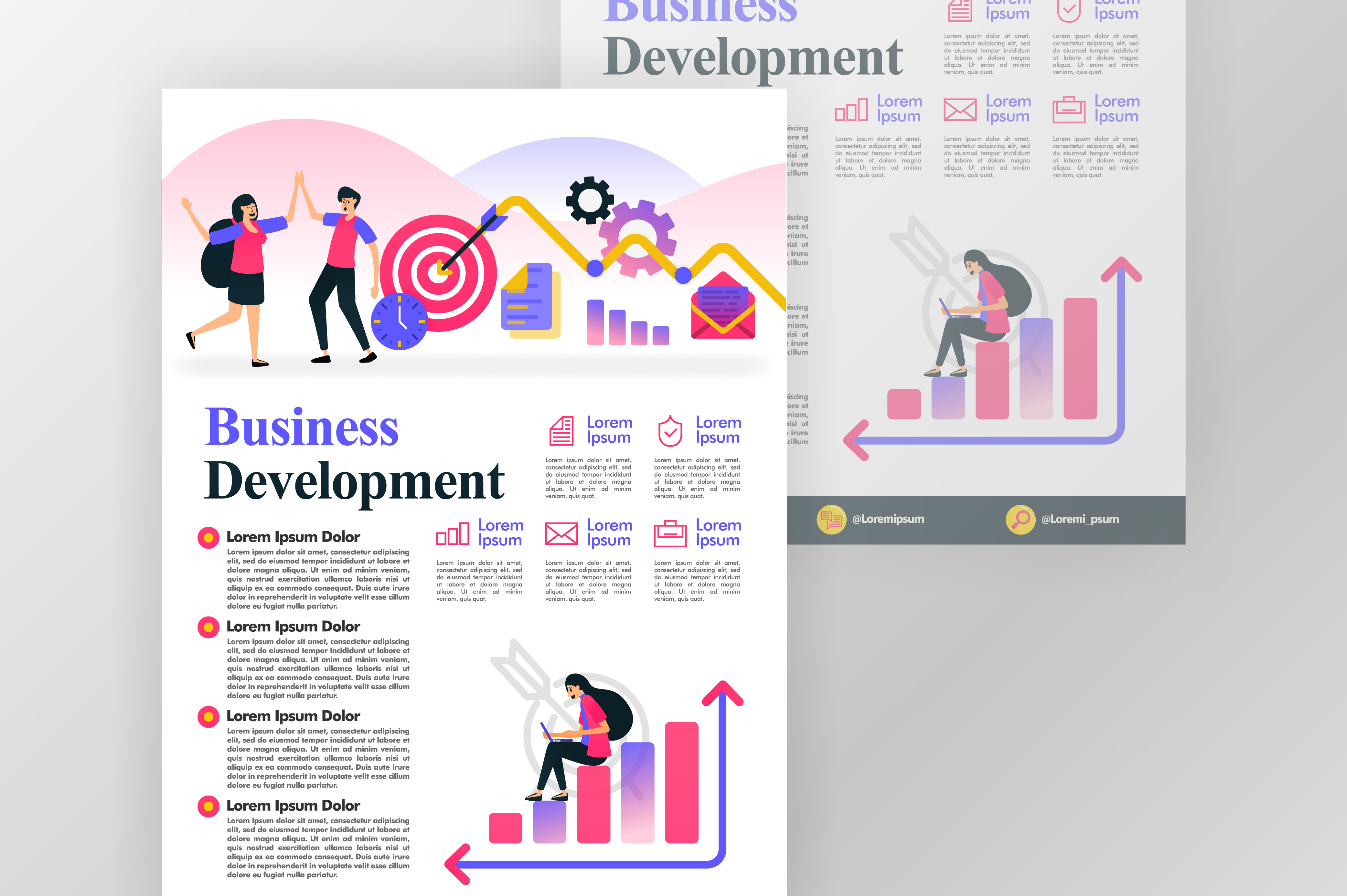Download Free Poster Of Business Development Concept Graphic By for Cricut Explore, Silhouette and other cutting machines.