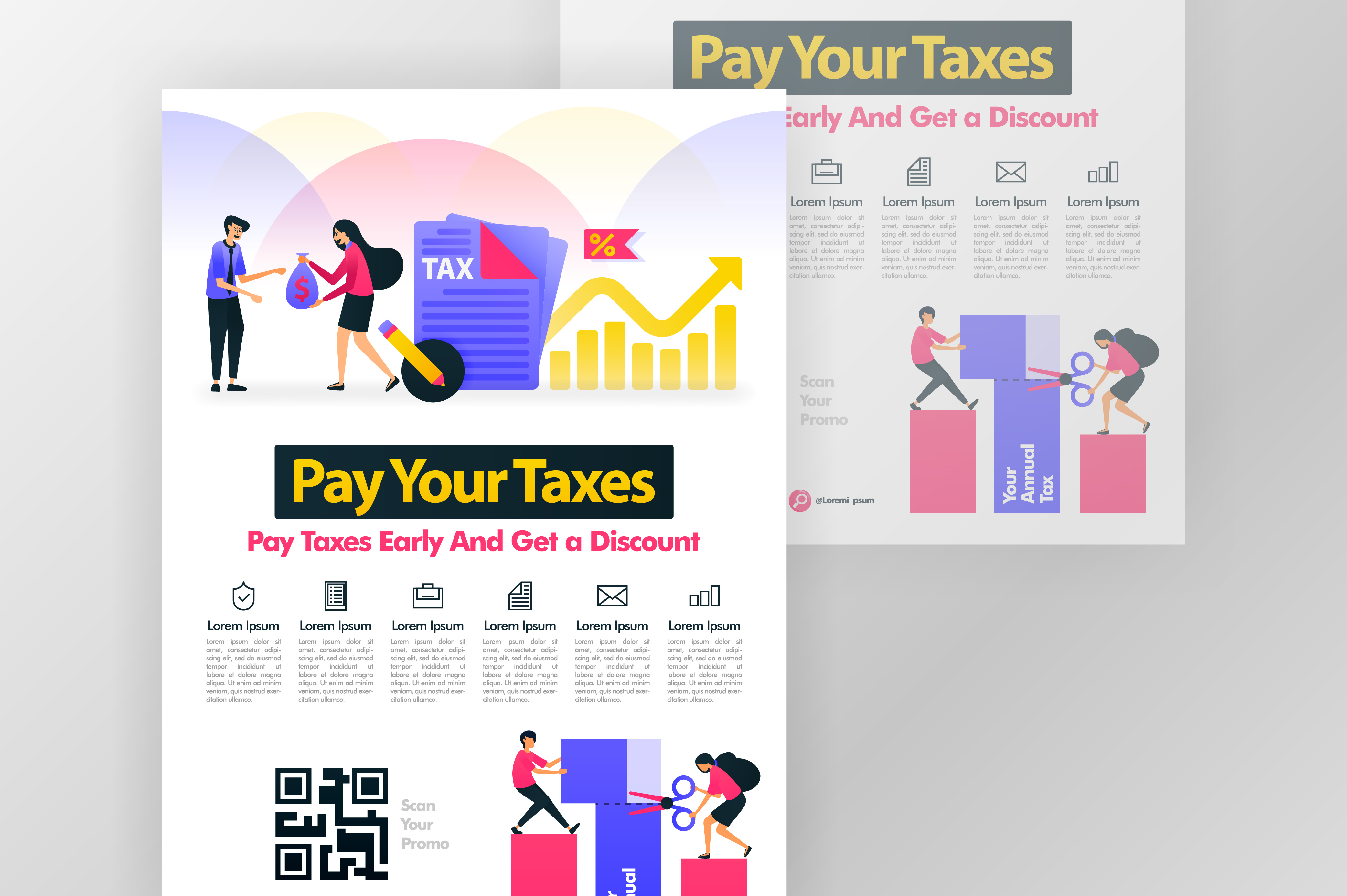 Download Free Poster Of Calling For Annual Tax Payment Graphic By for Cricut Explore, Silhouette and other cutting machines.