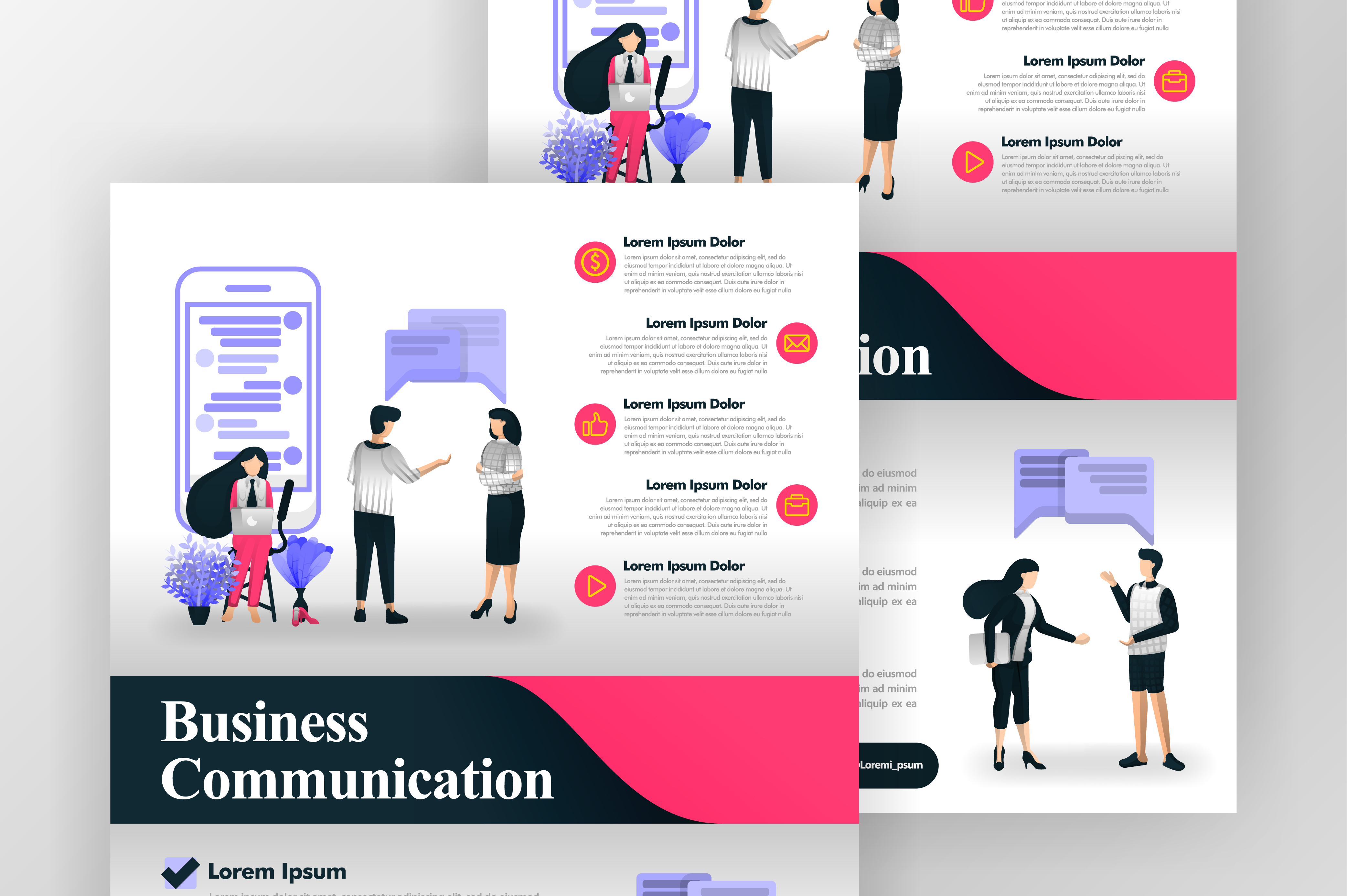 Download Free Poster Of Communication In Business Graphic By Setiawanarief111 for Cricut Explore, Silhouette and other cutting machines.