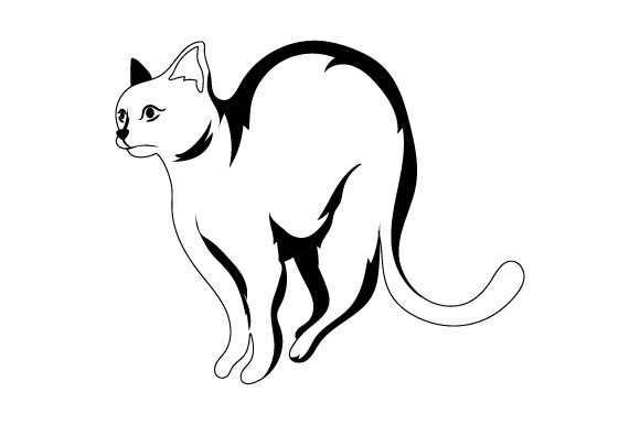 Download Free Scared Cat Svg Cut File By Creative Fabrica Crafts Creative for Cricut Explore, Silhouette and other cutting machines.