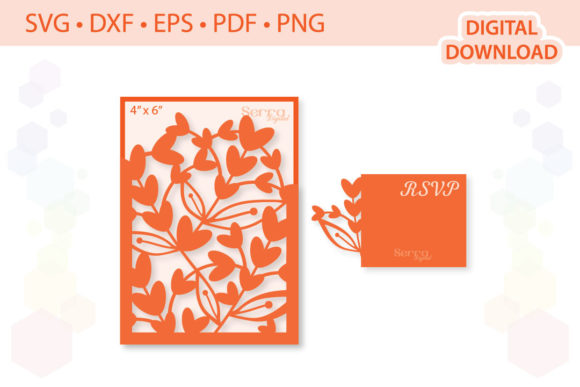 Download Free Floral Wedding Invitation Graphic By Serradigital Creative Fabrica for Cricut Explore, Silhouette and other cutting machines.