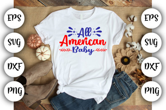 Download Free 4th July All American Baby Graphic By Design Store Creative for Cricut Explore, Silhouette and other cutting machines.