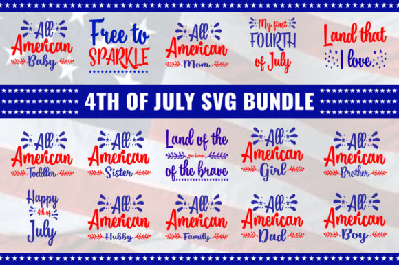 Download Free 4th Of July Bundle Graphic By Design Store Creative Fabrica SVG Cut Files