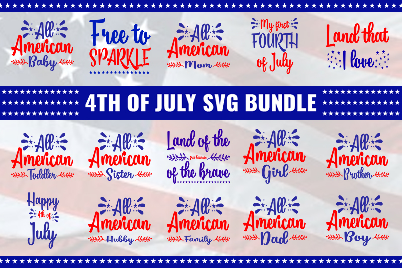 Download Free 4th Of July Bundle Graphic By Design Store Creative Fabrica for Cricut Explore, Silhouette and other cutting machines.