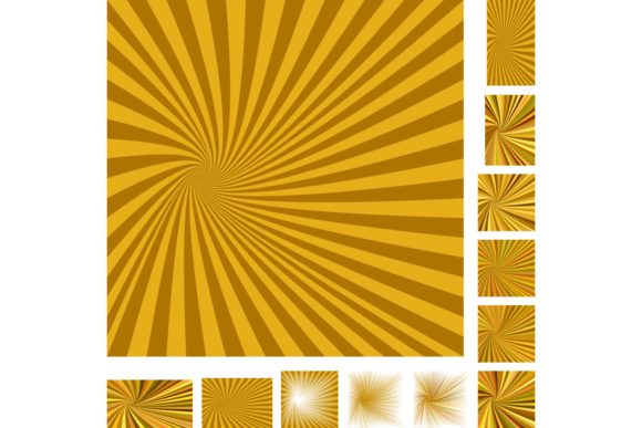 Abstract Spiral Ray Background Set Graphic Backgrounds By davidzydd