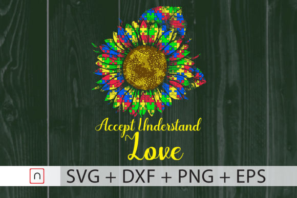 Print on Demand: Autism - Accept Understand Love Graphic Print Templates By Novalia