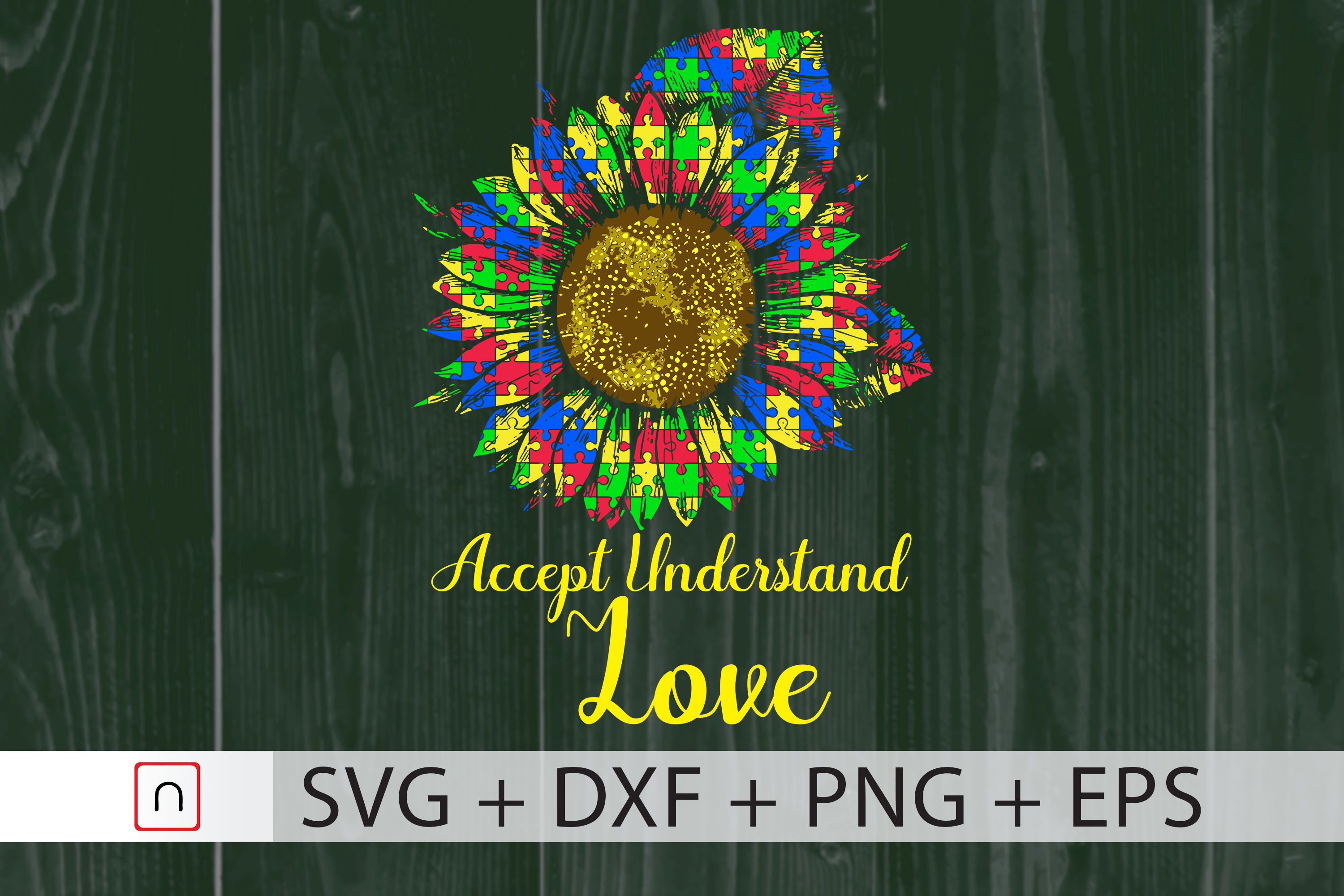 Download Free Autism Accept Understand Love Graphic By Novalia Creative for Cricut Explore, Silhouette and other cutting machines.
