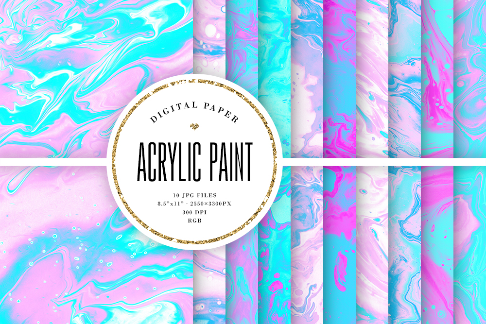 Download Free Acrylic Paint Textures Pink Blue Graphic By Sabina Leja for Cricut Explore, Silhouette and other cutting machines.