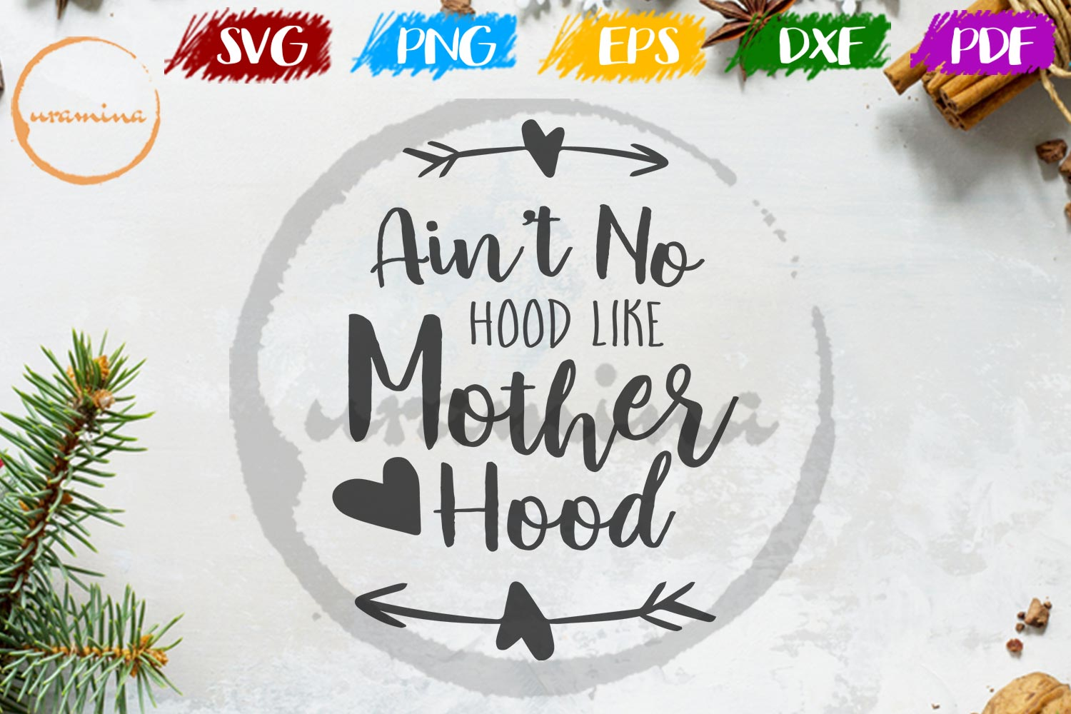 Download Free Ain T No Hood Like Mother Hood Graphic By Uramina Creative Fabrica for Cricut Explore, Silhouette and other cutting machines.