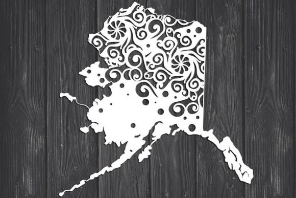 Download Free Alaska State Mandala Graphic By Fortunasvg Creative Fabrica for Cricut Explore, Silhouette and other cutting machines.