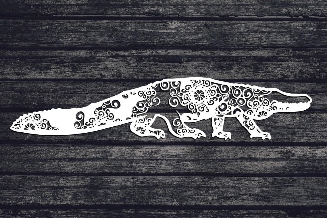 Download Free Alligator Mandala Graphic By Fortunasvg Creative Fabrica for Cricut Explore, Silhouette and other cutting machines.