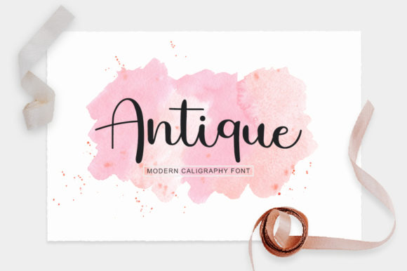 Print on Demand: Antique Script & Handwritten Font By markonahcreative