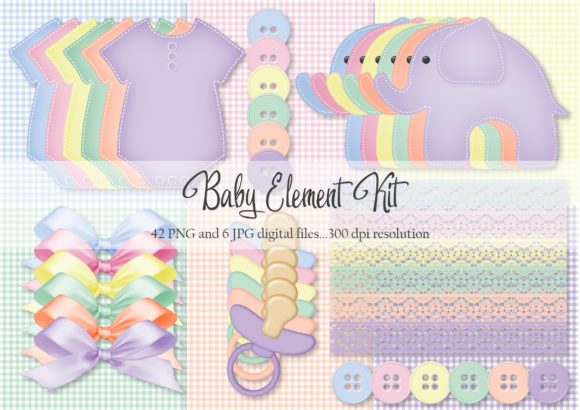 Print on Demand: Baby Element Kit Graphic Objects By Simply Paper Craft