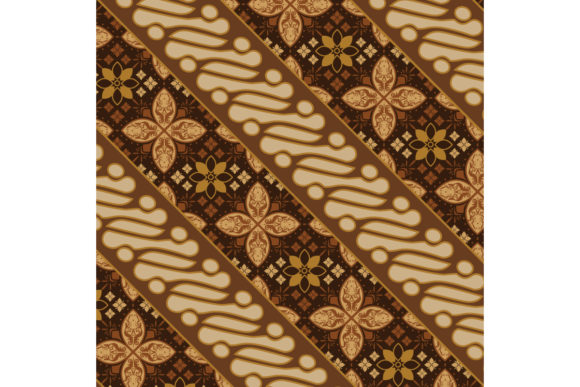 Beautiful Traditional Batik Pattern Graphic Backgrounds By cityvector91