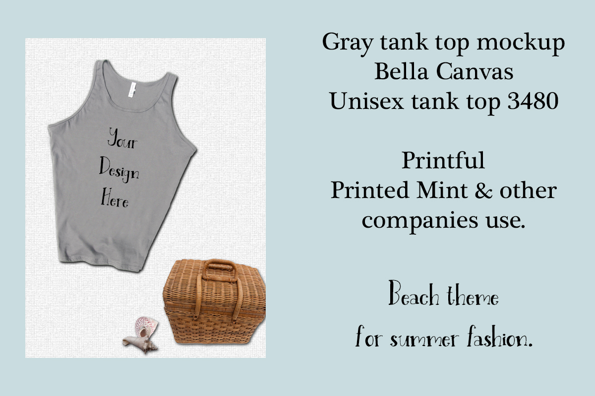 Download Free Bella Canvas 3480 Tank Top Mockup Graphic By A Design In Time for Cricut Explore, Silhouette and other cutting machines.