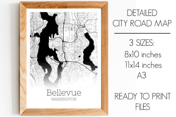 Download Free Bellevue Washington City Map Graphic By Svgexpress Creative for Cricut Explore, Silhouette and other cutting machines.