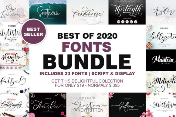 Best of 2020 Fonts Bundle  By Moriztype