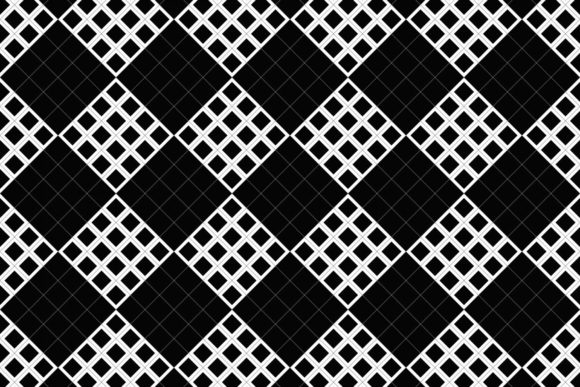 Download Free Black And White Seamless Square Pattern Graphic By Davidzydd for Cricut Explore, Silhouette and other cutting machines.