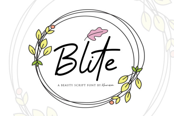 Download Free Blite Font By Khurasan Creative Fabrica for Cricut Explore, Silhouette and other cutting machines.