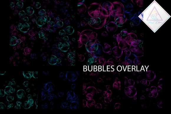 Print on Demand: Bubbles Overlay Clipart Graphic Illustrations By fantasycliparts