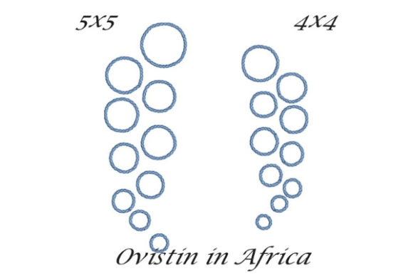 Bubbles Satin Stitches Strand & Meer Stickdesign von Ovistin in Africa