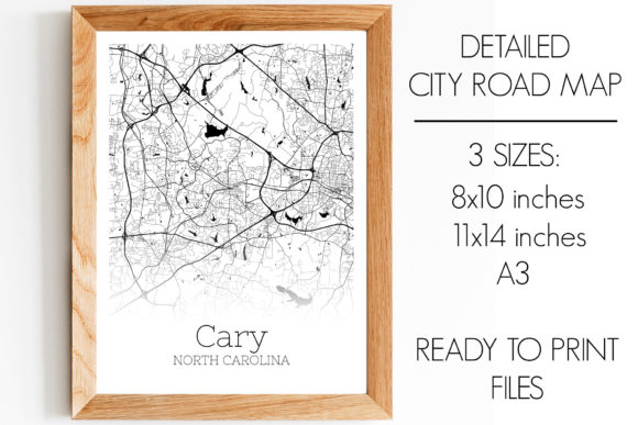 Download Free Cary North Carolina City Map Graphic By Svgexpress Creative for Cricut Explore, Silhouette and other cutting machines.