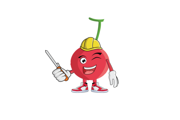 Download Free Cherry Fruit Cartoon Character Design Graphic By for Cricut Explore, Silhouette and other cutting machines.