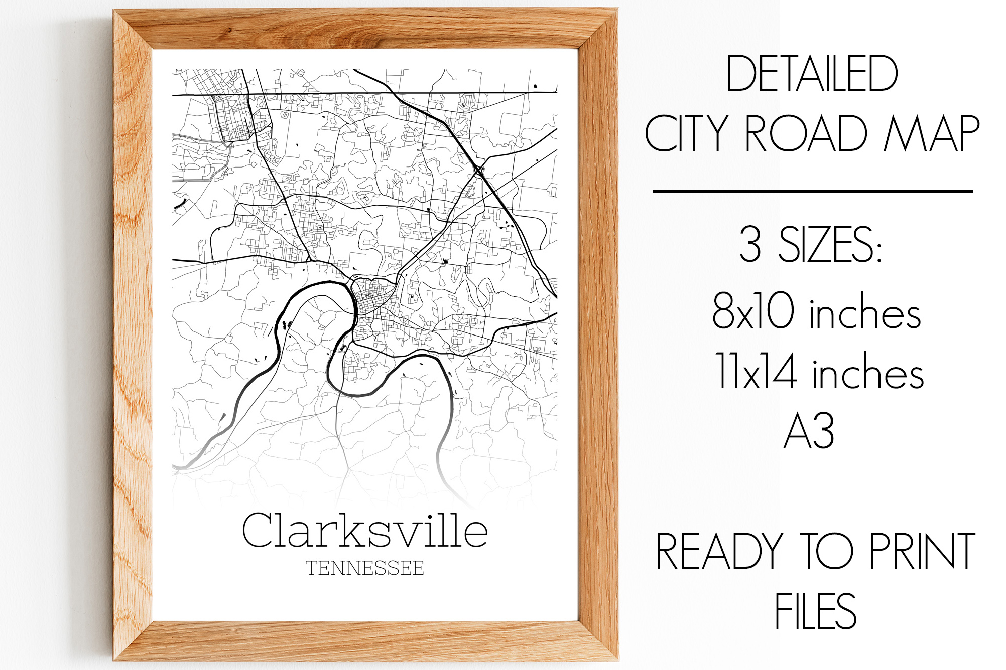 Download Free Clarksville Tennessee City Map Graphic By Svgexpress Creative SVG Cut Files