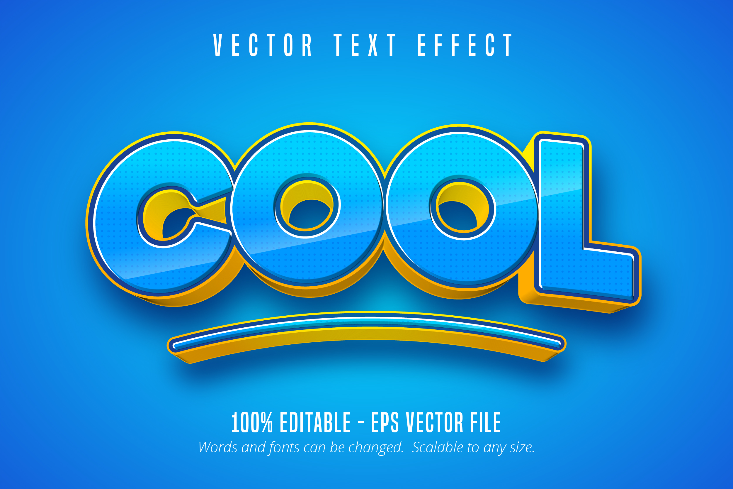 Download Free Cool Text 3d Editable Text Effect Graphic By Mustafa Beksen for Cricut Explore, Silhouette and other cutting machines.