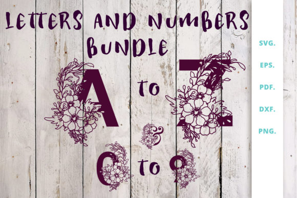 Print on Demand: Cut File Floral Alphabet Bundle   Graphic Crafts By Sintegra