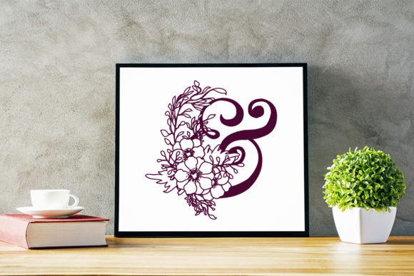 Download Free Cut File Floral Alphabet Bundle Graphic By Sintegra Creative for Cricut Explore, Silhouette and other cutting machines.