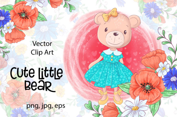 Download Free Cute Little Bear Graphic By Nicjulia Creative Fabrica for Cricut Explore, Silhouette and other cutting machines.