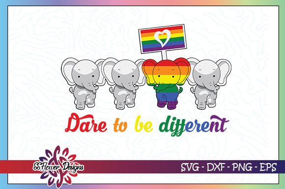 Dare To Be Different Rainbow Graphic By Ssflower Creative Fabrica