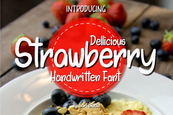 Print on Demand: Dellicious Strawberry Script & Handwritten Font By sartstudio