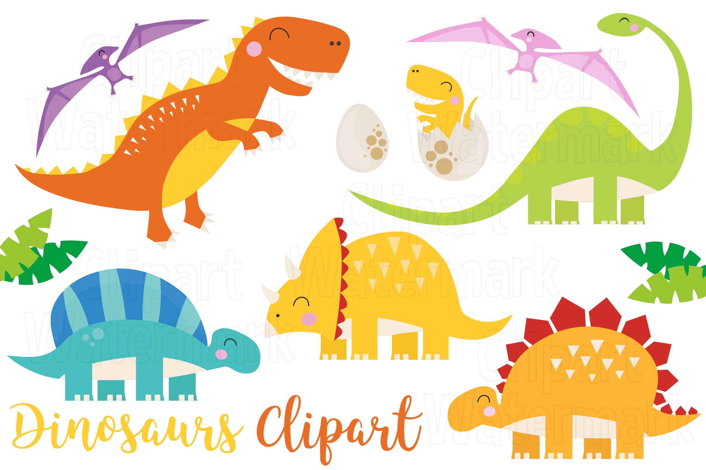 Download Free Dinosaurs Clipart Graphic By Magreenhouse Creative Fabrica for Cricut Explore, Silhouette and other cutting machines.