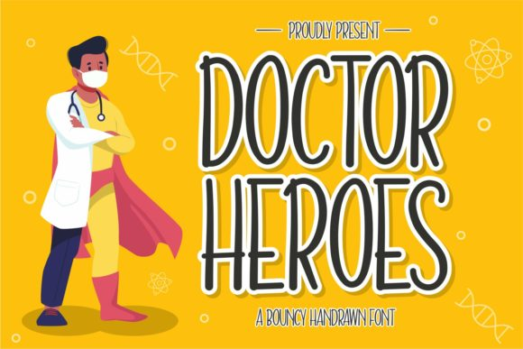 Download Free Doctor Heroes Font By Zainstudio Creative Fabrica for Cricut Explore, Silhouette and other cutting machines.