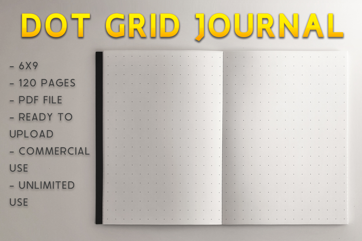Download Free Dot Grid Journal Kdp Template Graphic By Kdp Product for Cricut Explore, Silhouette and other cutting machines.