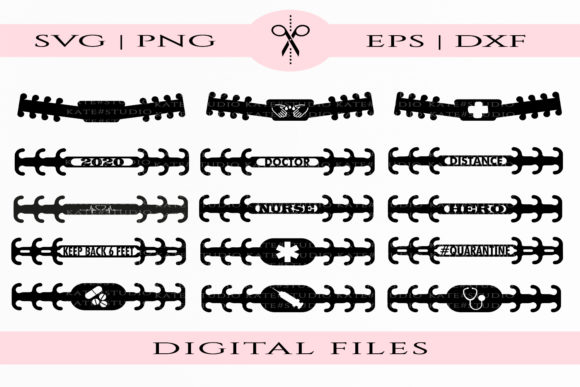 Download Free Ear Saver Templates Graphic By Kate Studio Creative Fabrica for Cricut Explore, Silhouette and other cutting machines.