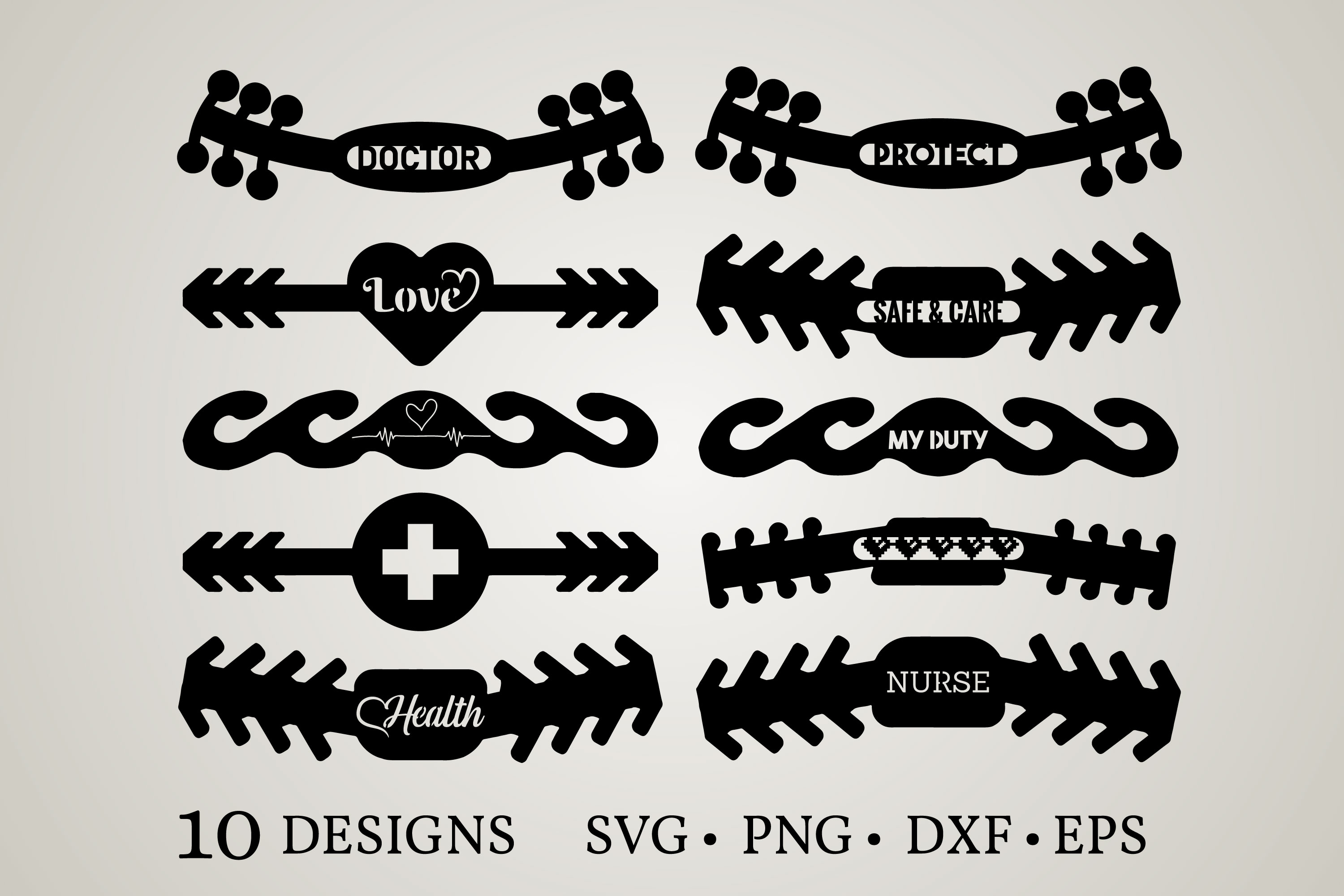 Download Free Ear Saver Graphic By Euphoria Design Creative Fabrica for Cricut Explore, Silhouette and other cutting machines.