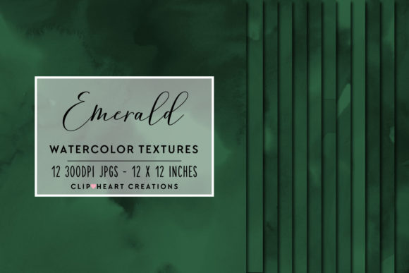 Emerald Green Watercolor Digital Papers Graphic Backgrounds By clipheartcreations