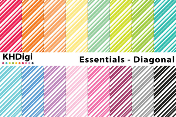 Print on Demand: Essentials - Diagonal Lines Graphic Backgrounds By KHDigi
